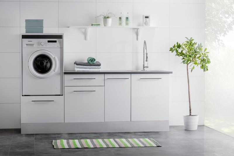 Alterna vaskerom sokkel 200 cm hvit
