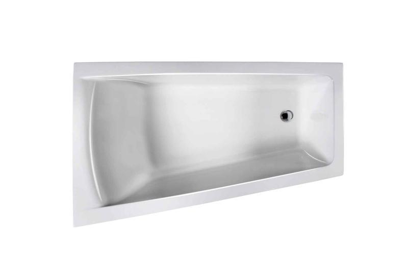 Nemo 160x100/70 badekar + MicroSilk®, venstre