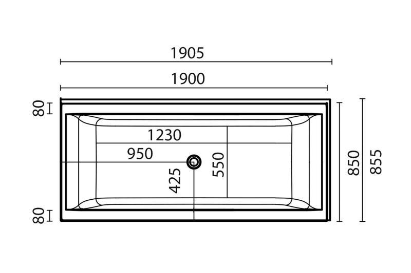 Nemo 190x85 badekar + Komfortpakke design