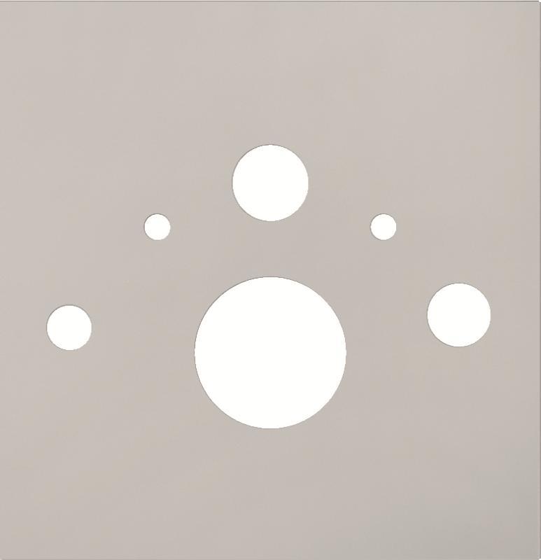 TECElux nedre glassplate hvit, dusj-wc