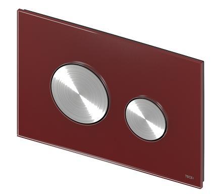 TECEloop rubin glass/børstet rustfritt stål