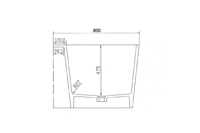 Saga 165x80 badekar