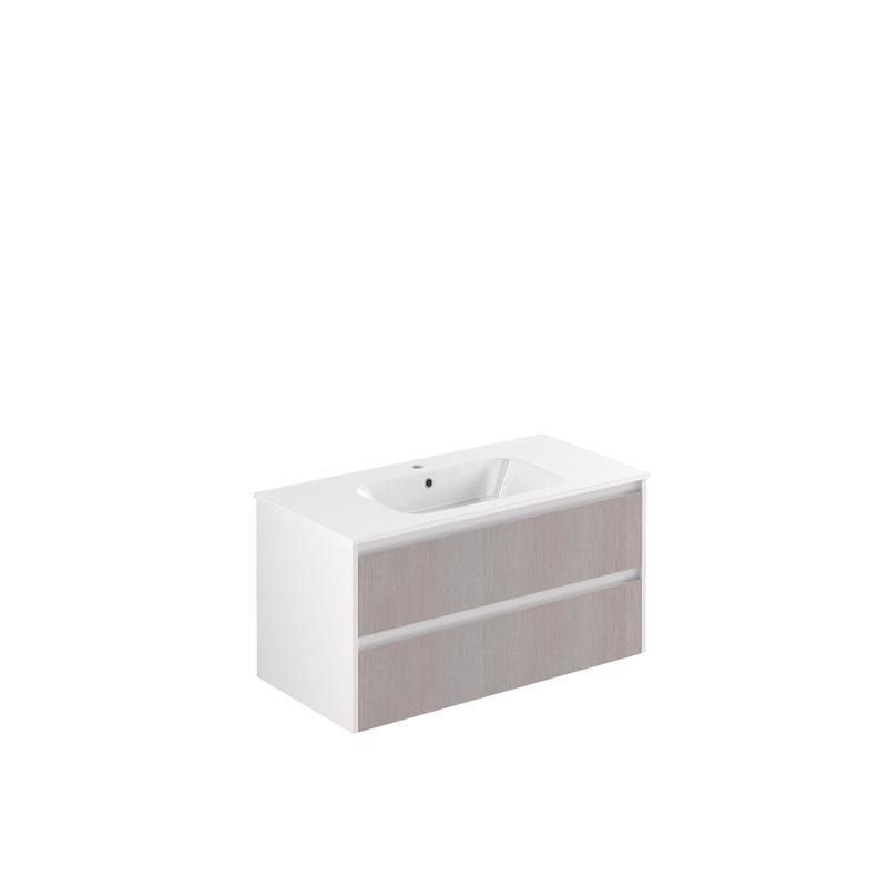 AllDay 105 tre+hvit høyglans