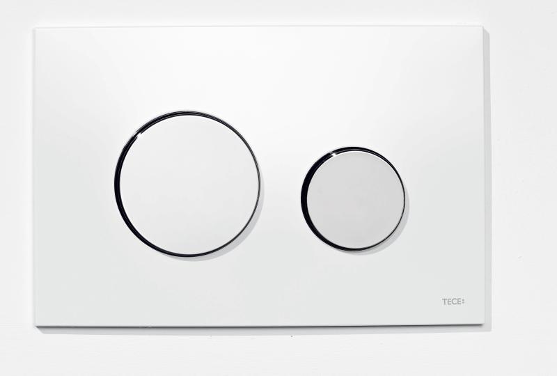 TECEloop hvitt glass/hvite knapper