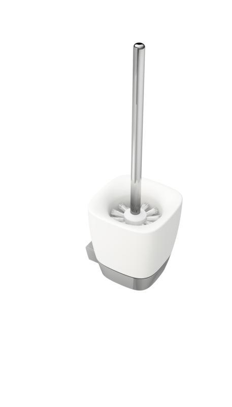 White Keramikk for Vegg m/Toalettbørste
