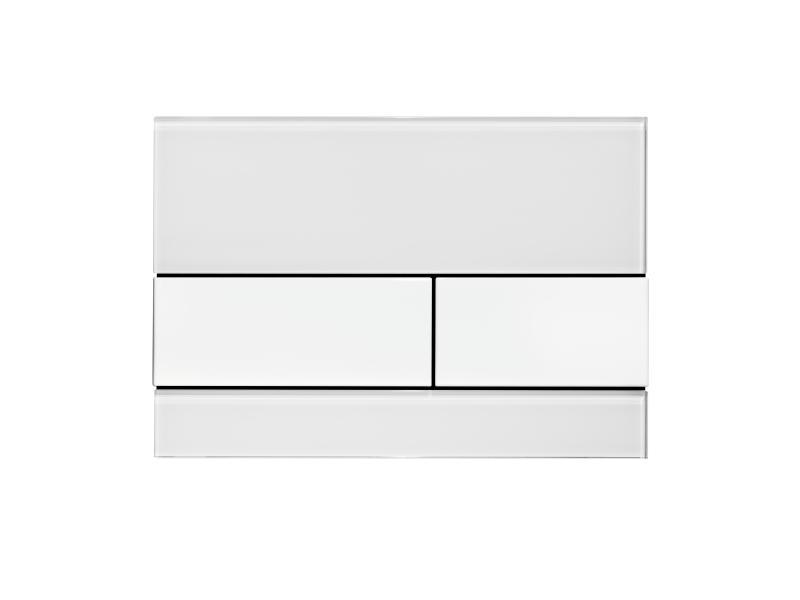 TECEsquare, hvitt glass/ hvite knapper