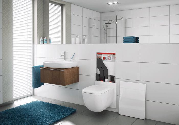 TECElux 400 WC-terminal m høydejustering og luktavtrekk