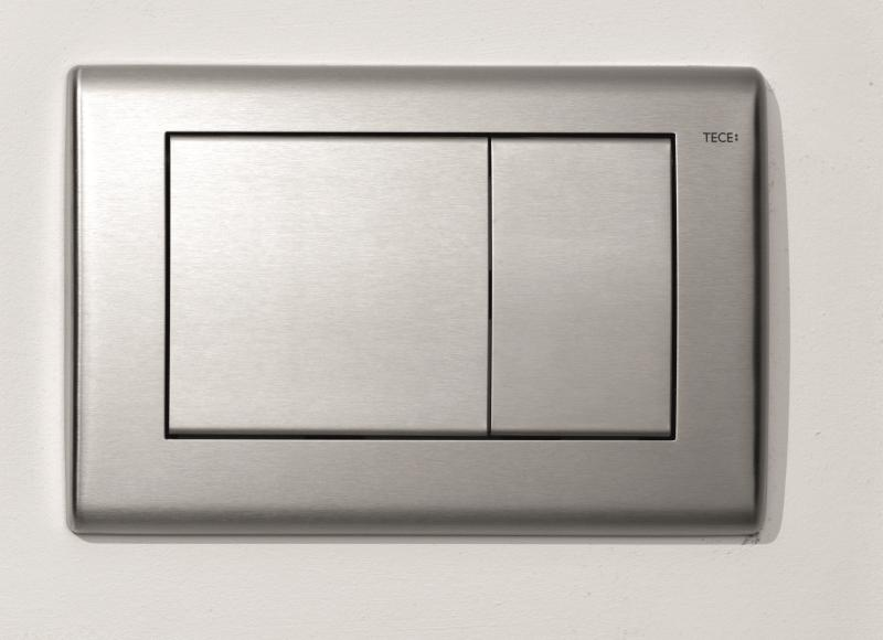 TECEplanus betjeningsplate i rustfritt stål for WC