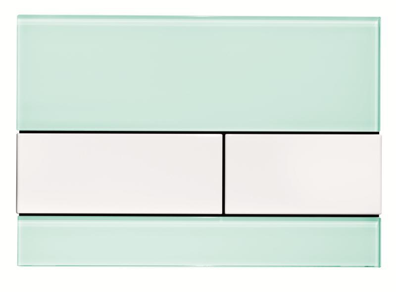 TECEsquare mintgrønt glass, hvite knapper