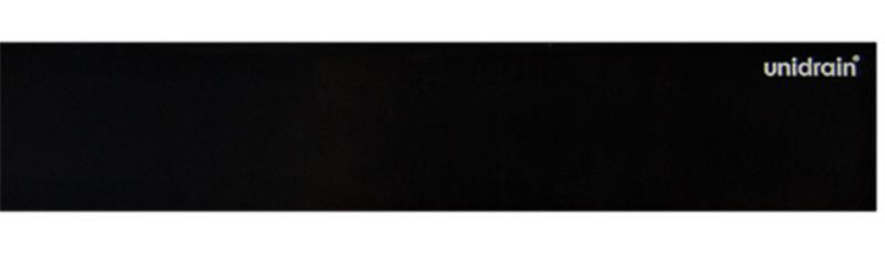 HighLine Panel frostet glass Black 700 mm