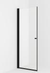 VikingBad dusjdør, rett LIAM 90x195 sort matt/klart