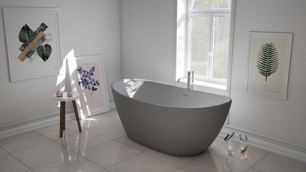 badekar i stein Viena betong look badekar i stein
