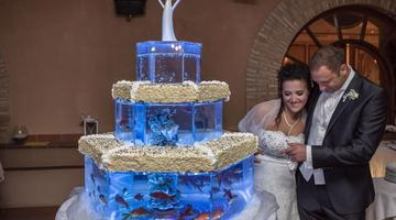 Vi piace il mare? Wedding cake in versione acquario!
