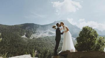 La magia di un matrimonio in montagna