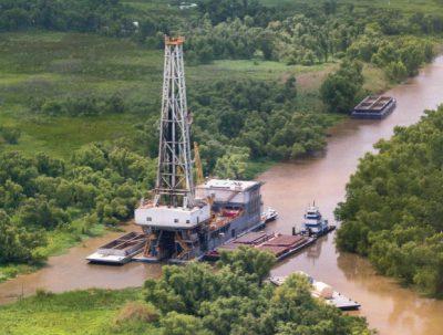 Swamp drilling