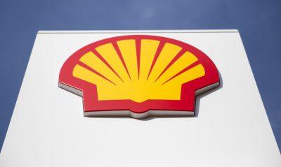 Shell Logo against blue sky