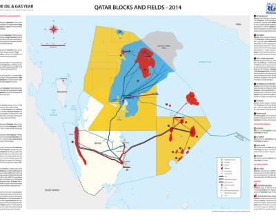 Qatar Blocks and Fields Map