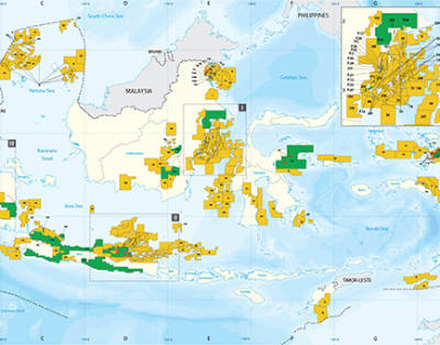 Indonesia Petroleum Contract Areas Map