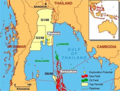 The Manora field sits in the Gulf of Thailand