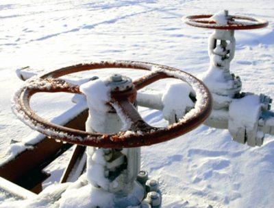 A Novatek gas pipeline in Russia