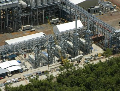 Australia Pacific LNG, a supplier of gas to power stations in northeast Queensland, announced on Monday that the first cargo of LNG left its facility on Curtis Island near Gladstone, Australia.