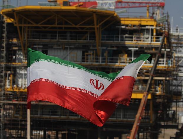 Iran flag at South Pars