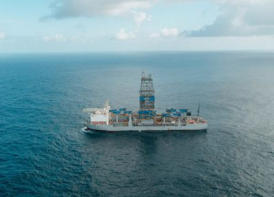 Drillship at Stabroek in Guyana