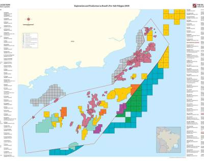 Exploration and Production in Brazil's Pre-Salt Polygon Map 2019