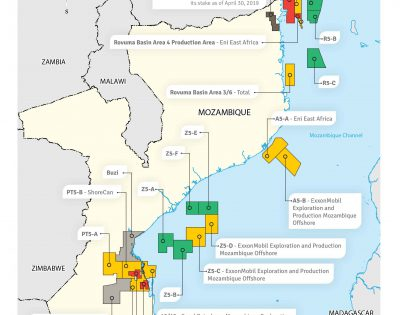 Mozambique concession areas and operators 2019