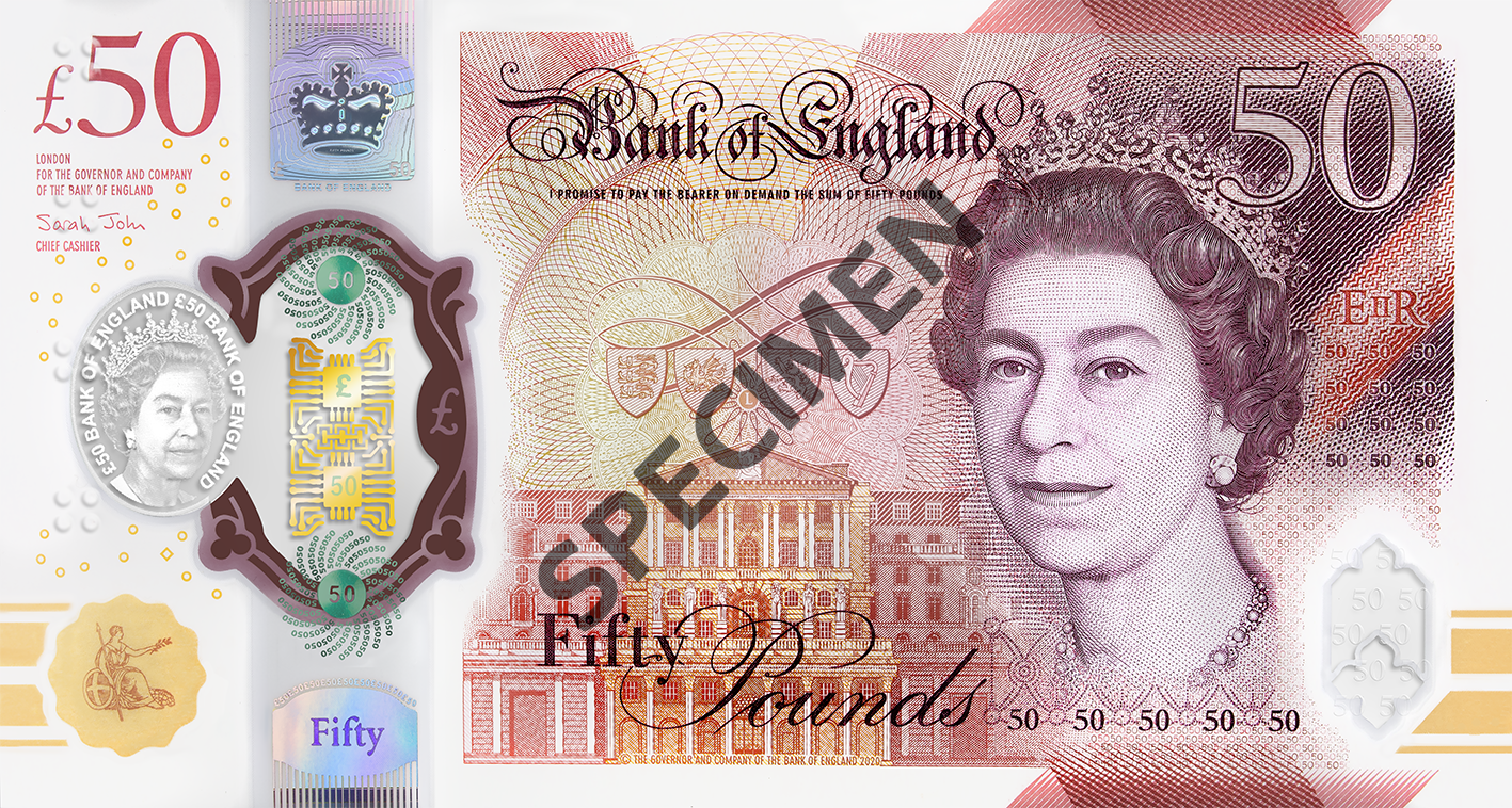 New £50 note front