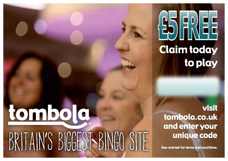 Free £5 on tombola