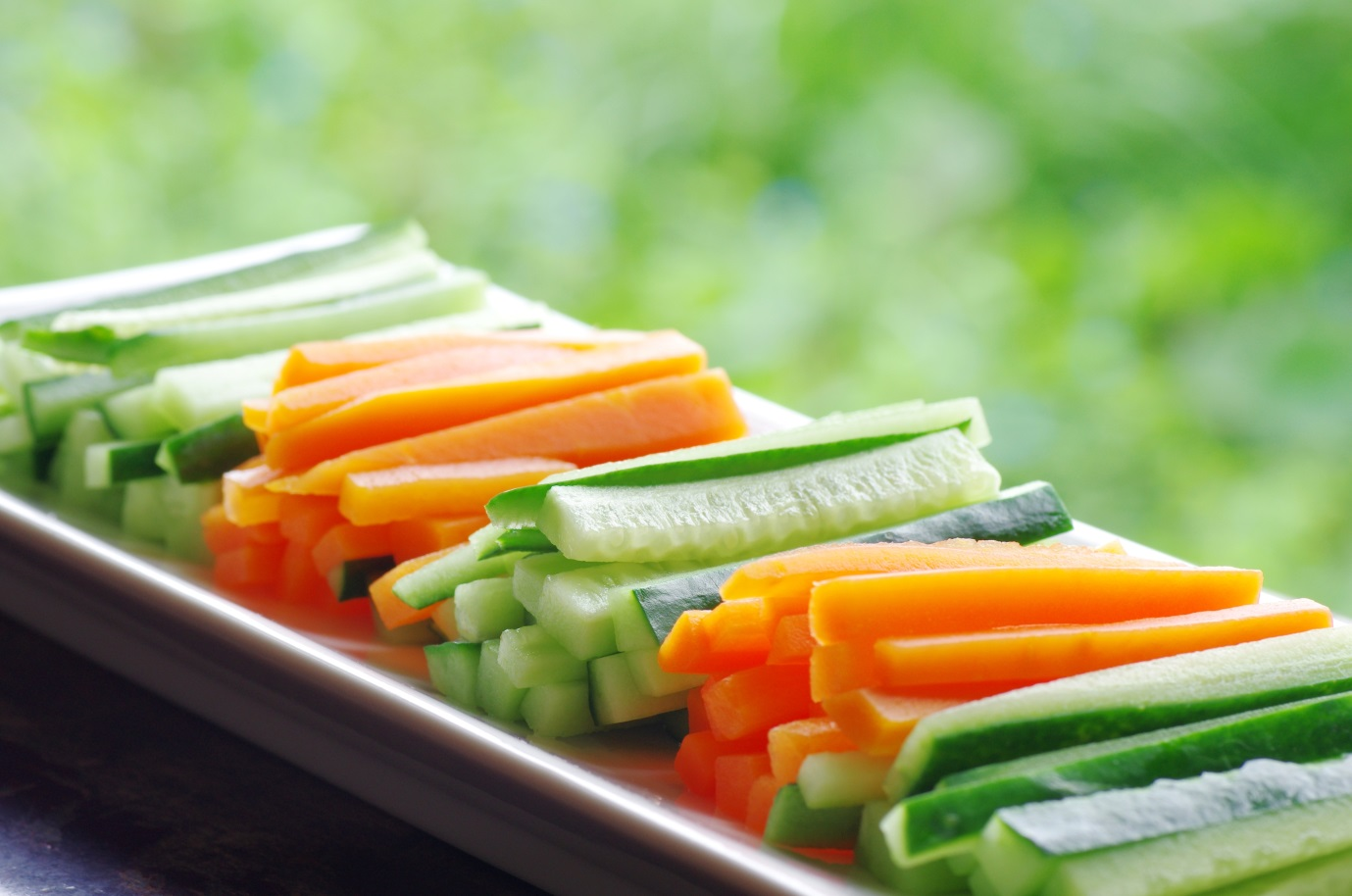 cucumber and carrot picnic