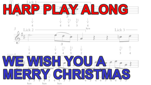 Harmonica Play Along We Wish You A Merry Christmas Free Harp Tab
