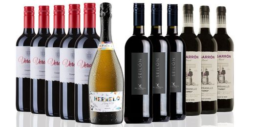 Hampers: 12 Bottles of Spanish Wine and Prosecco Selection, 66% off