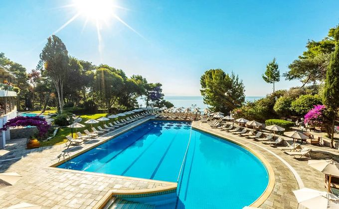 Corfu: 5 Star Luxury Beach Holiday with Half Board, Infinity Pool & Wellness Spa