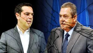 Αποτέλεσμα εικόνας για Ο Πάνος Καμμένος διαφωνεί με το deal για Βόρεια Μακεδονία, μακεδονική ταυτότητα και γλώσσα που εμπνεύστηκαν και θέλουν να επικυρώσουν με τα Σκόπια ο Νίκος Κοτζιάς με τον Αλέξη Τσίπρα. Ο Κοτζιάς συμφωνούσε με τον Τσίπρα στην στρατηγική και την τακτική προκειμένου να υλοποιήσουν μέχρι τέλους τη συμφωνία των Πρεσπών. Ο Καμμένος διαφωνούσε και είχε προαναγγείλλει ότι θα αποχωρήσει από την κυβέρνηση όταν (και αν) έρθει για ψήφιση στη Βουλή η συμφωνία με τους Σκοπιανούς.