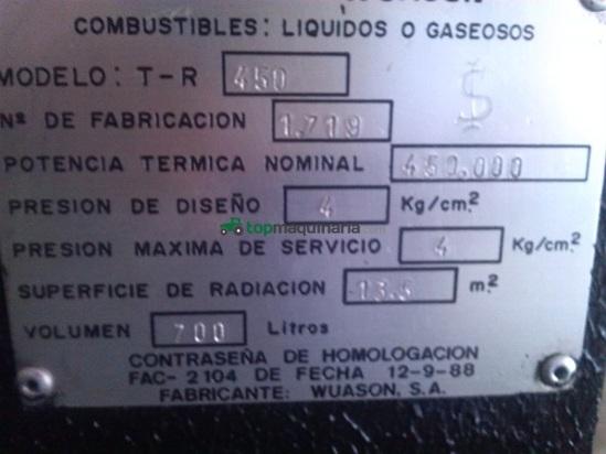 caldera industrial de agua caliente y vapor
