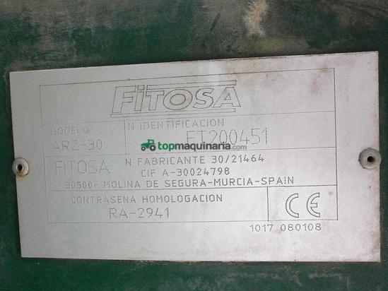 Pulverizador arrastrado FITOSA modelo ARZ-30