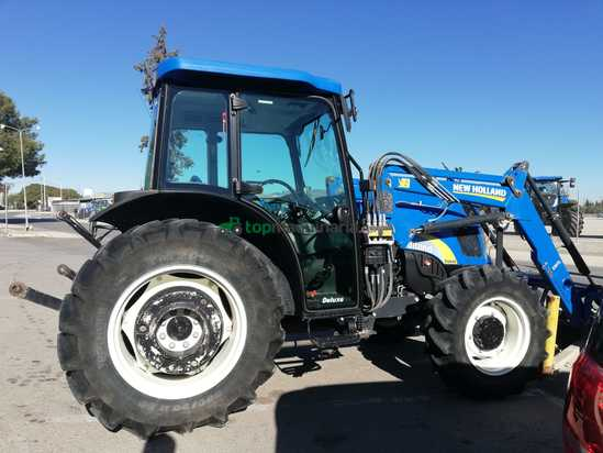 Tractor agrícola - New Holland - T4040 con pala STOLL