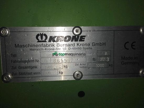 Rotoempacadora Cámara Semi-Variable KRONE COMPRIMA F155