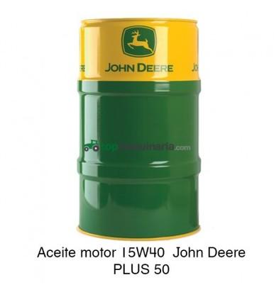 ACEITE MOTOR 15W40 JOHN DEERE PLUS 50 208 LITROS