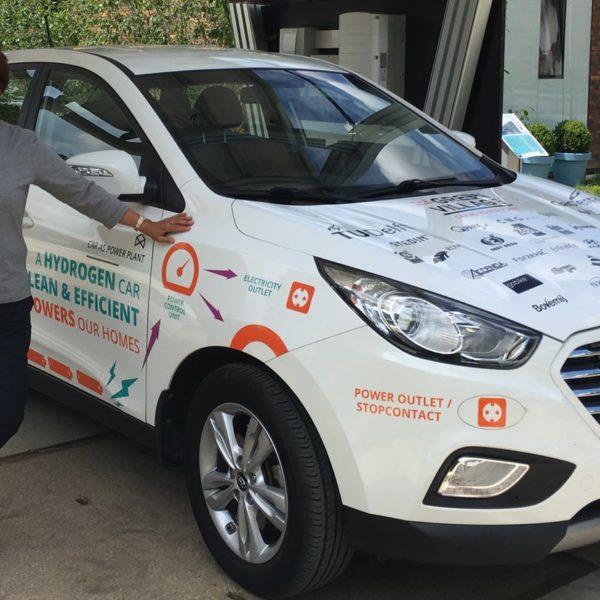 Duurzame waterstofauto als elektriciteitscentrale