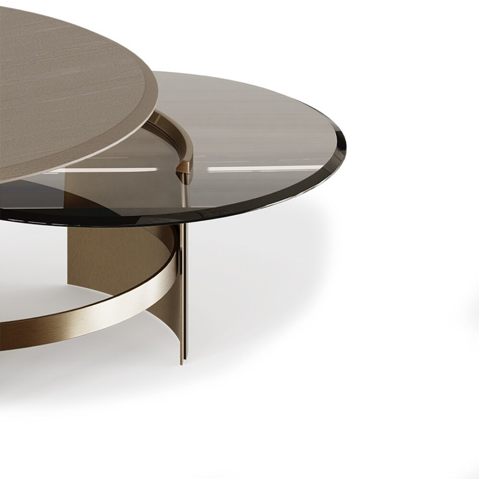 Lua Smoked Glass Luxury Coffee Table Touched Interiors