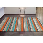 100% Leather Multi Colour Patchwork Rug
