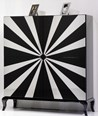 High Gloss Black And White Star Cabinet