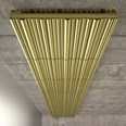 Bamboo luxury matte gold radiator