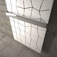 Luxury mosaic matte white and grey tall radiator