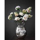 Silver Abaca Vase With Crown Detail