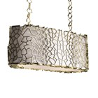 Affinity Gold Plated Brass & Silk Shade Suspension Light
