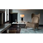 Touched D Upholstered Leather Balthazar Armchair